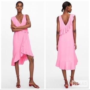 NWT • Zara • Ruffled Dress